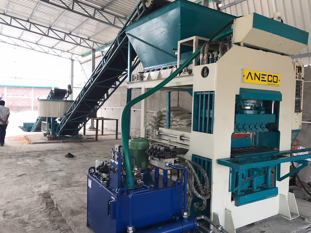 Fly ash bricks, Concrete & Paver blocks Making Machine