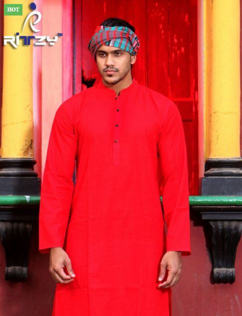 Regular Fit Long Panjabi for Men