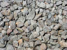 Boulder Stone, Concrete or Crushed Stone.