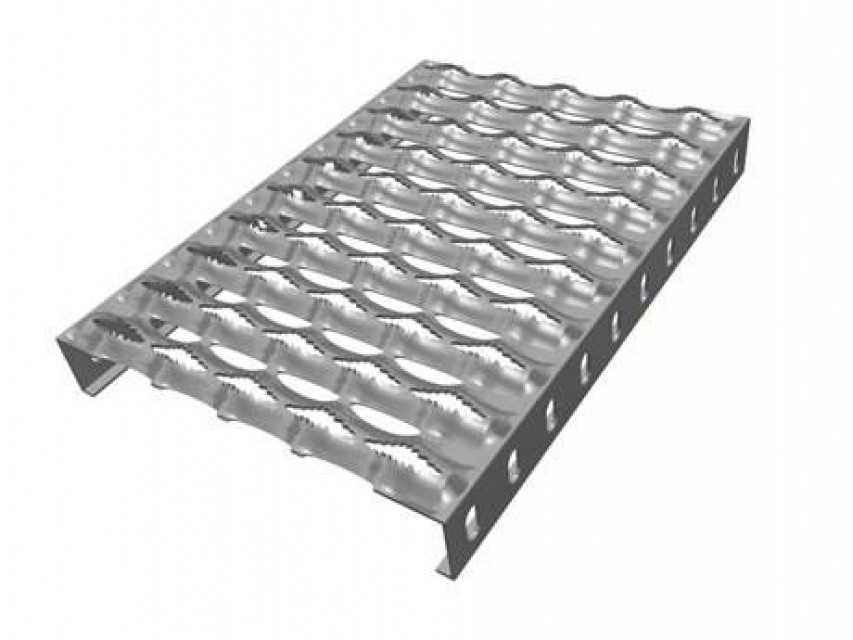 Diamond-Strut Safety Grating
