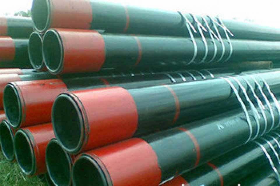 API 5CT oil casing pipe H40. J55 used for the walls of oil, gas wells