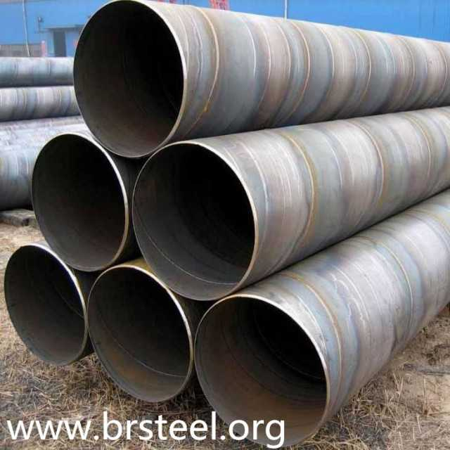 SSAW spiral welded carbon steel pipe for natural gas and oil pipeline