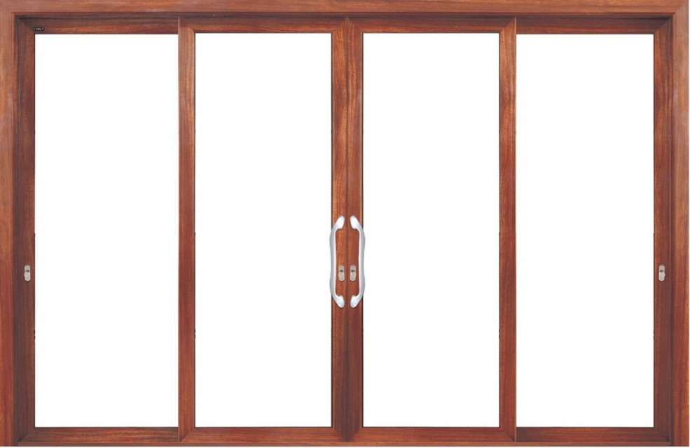 Aluminum sliding glazed door
