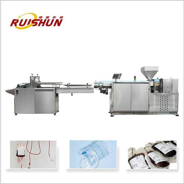 Infusion bag tubular film extrusion line