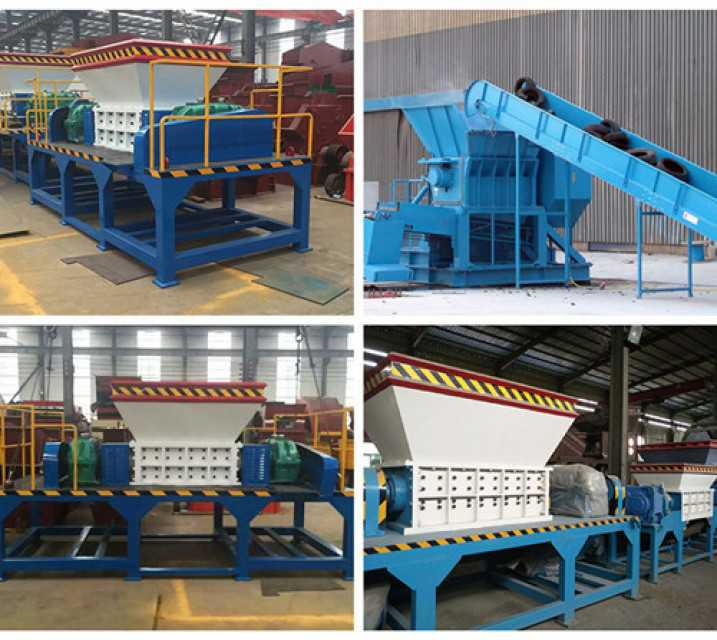 Plastic shredder for crushing plastic tire metal waste products