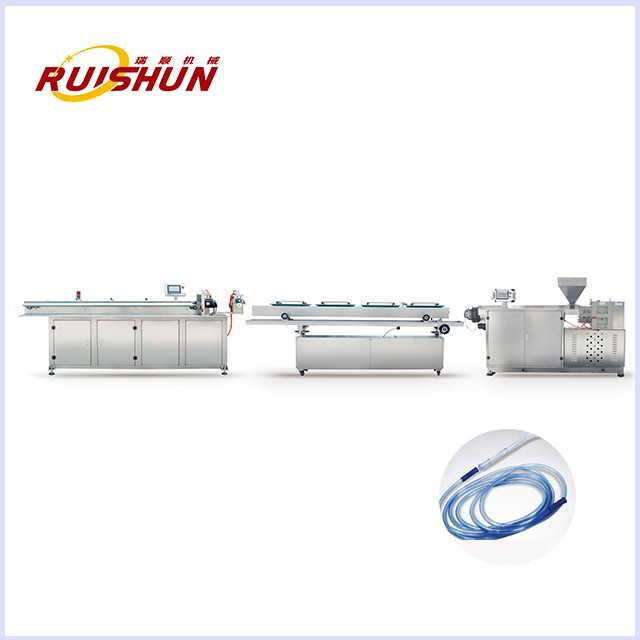 Medical connecting catheter extrusion line