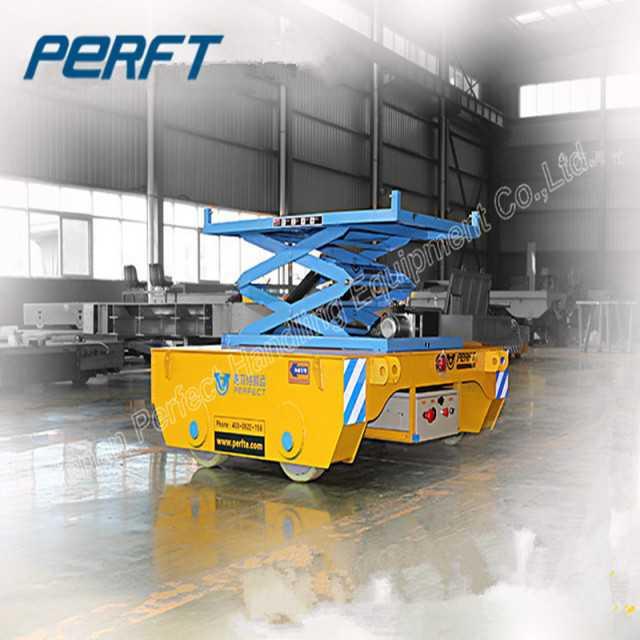 Scissor Hydraulic Lifting Rail Transfer Cart Rail Motored Vehicle