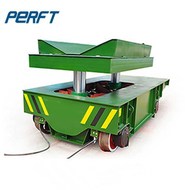 Electric Rail Coil Transfer Trolley for factory Aluminum Steel Pipe and coils transport