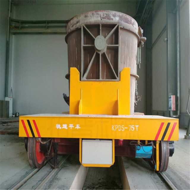 Molten Iron Casting Rail Ladle Transfer Car With High Temperature Resistant