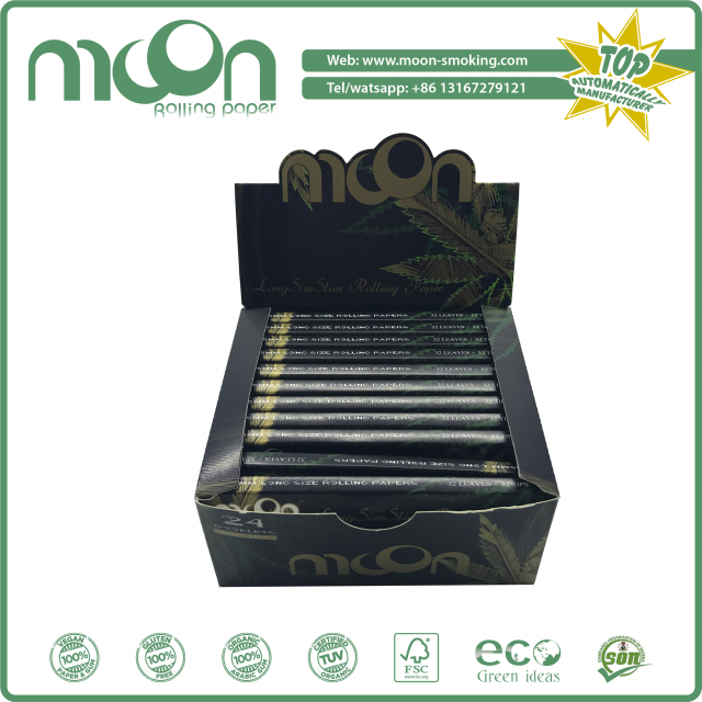 Moon 13GSM King Size Slim Mix Flax Rolling Paper