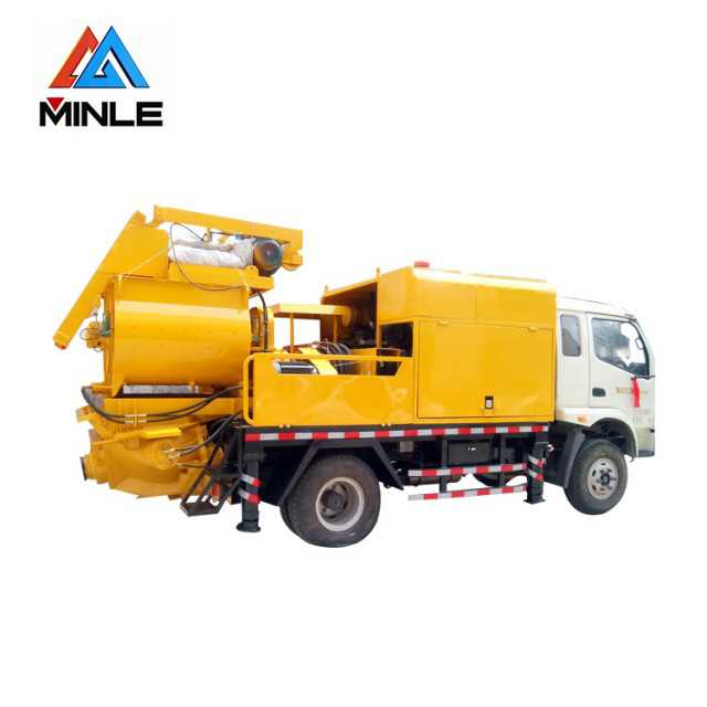 Concrete mixer pump truck