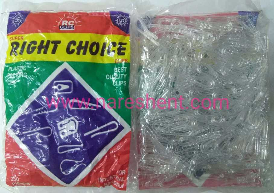 plastic clips jumbo clear jc rc_4