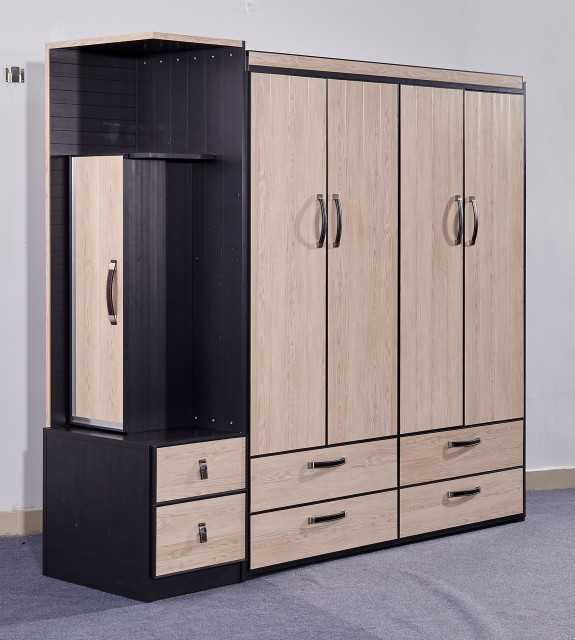 Full Aluminum Bedroom Furniture Combined Armoires