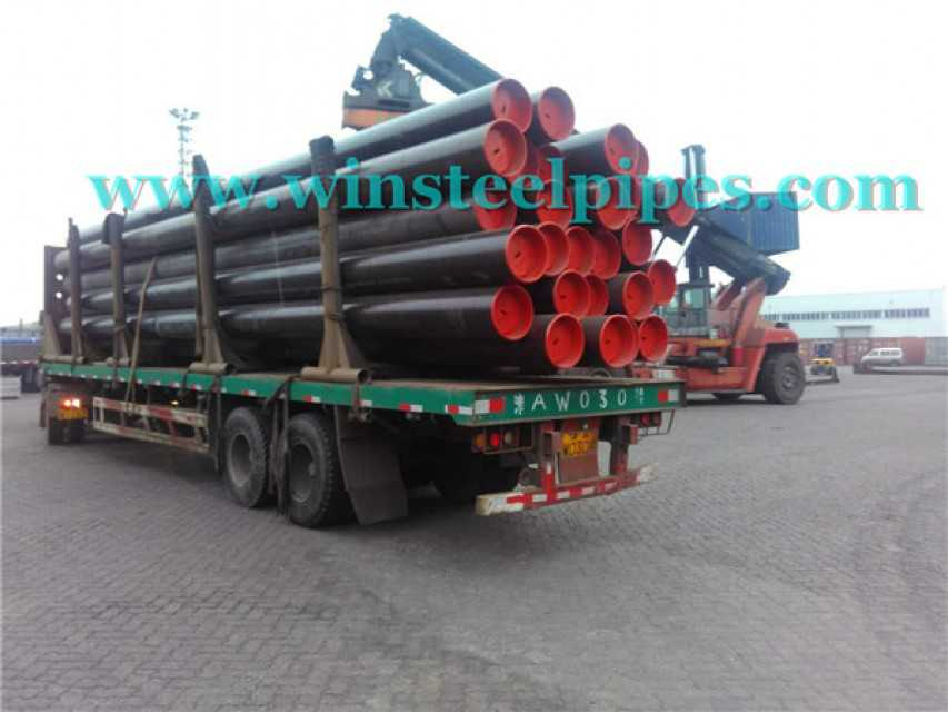 img 1 20 inch steel pipe with plastic end protector