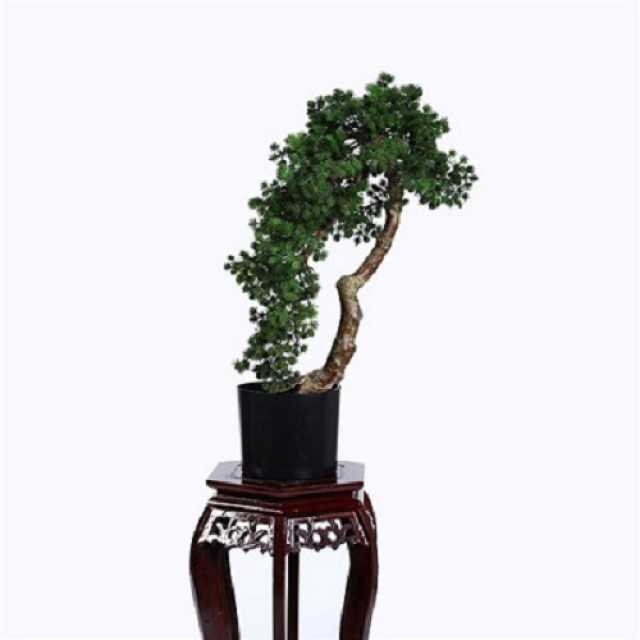 img 1 artificial buddhist pine tree bonsai plastic base 80cm