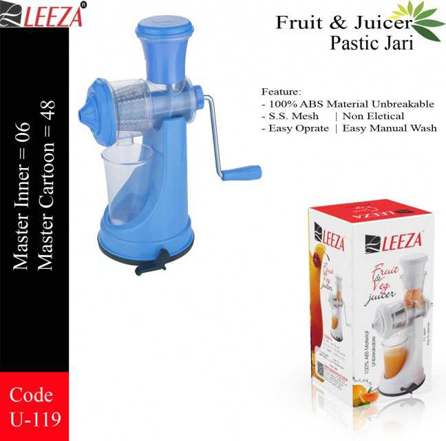 ABS Juicer Stainless Plastic Jari
