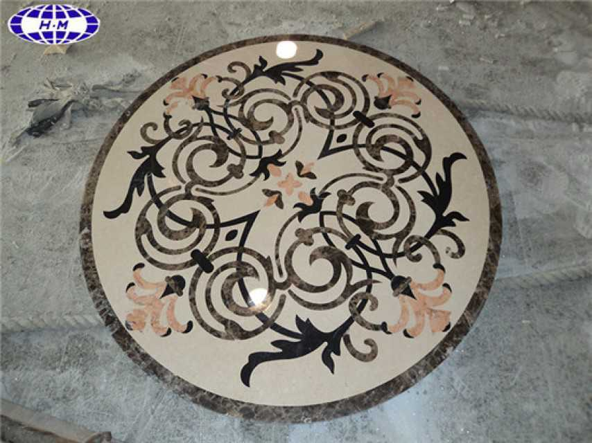 Round Entryway Tile Medallions