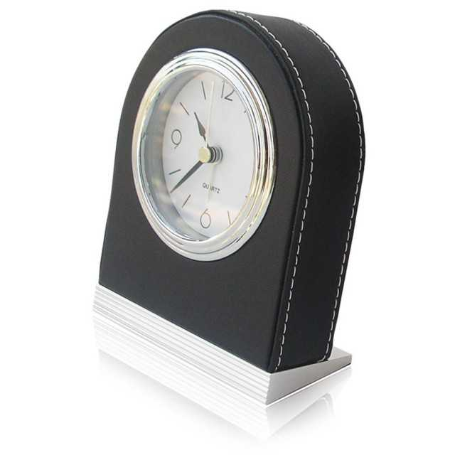 Faux Leather Cover Creative Alarm Clock