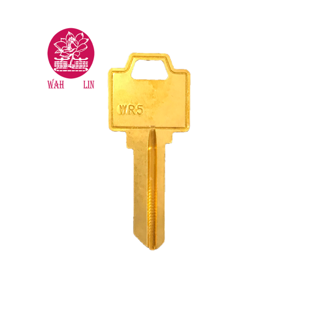 American Wr5 Brass Key Blank 5 Pin Weiser Key door key