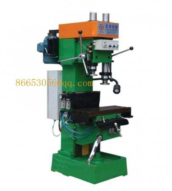 Pneumatic double spindle drilling and tapping machine