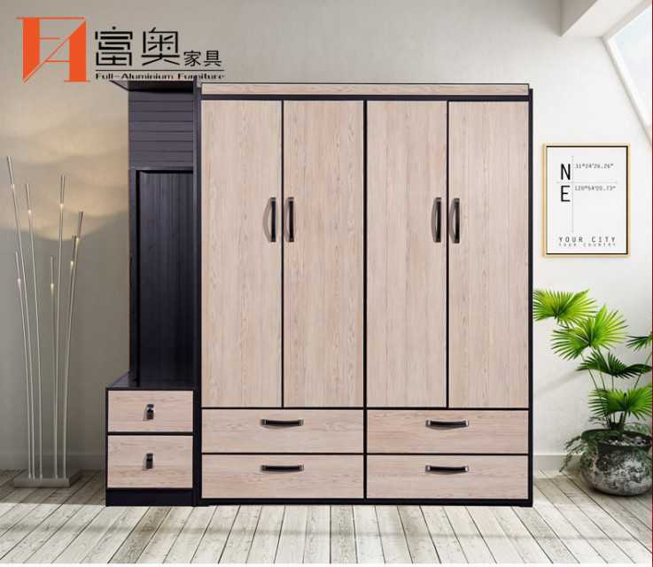 Full Aluminum Bedroom Furniture Combined Armoires