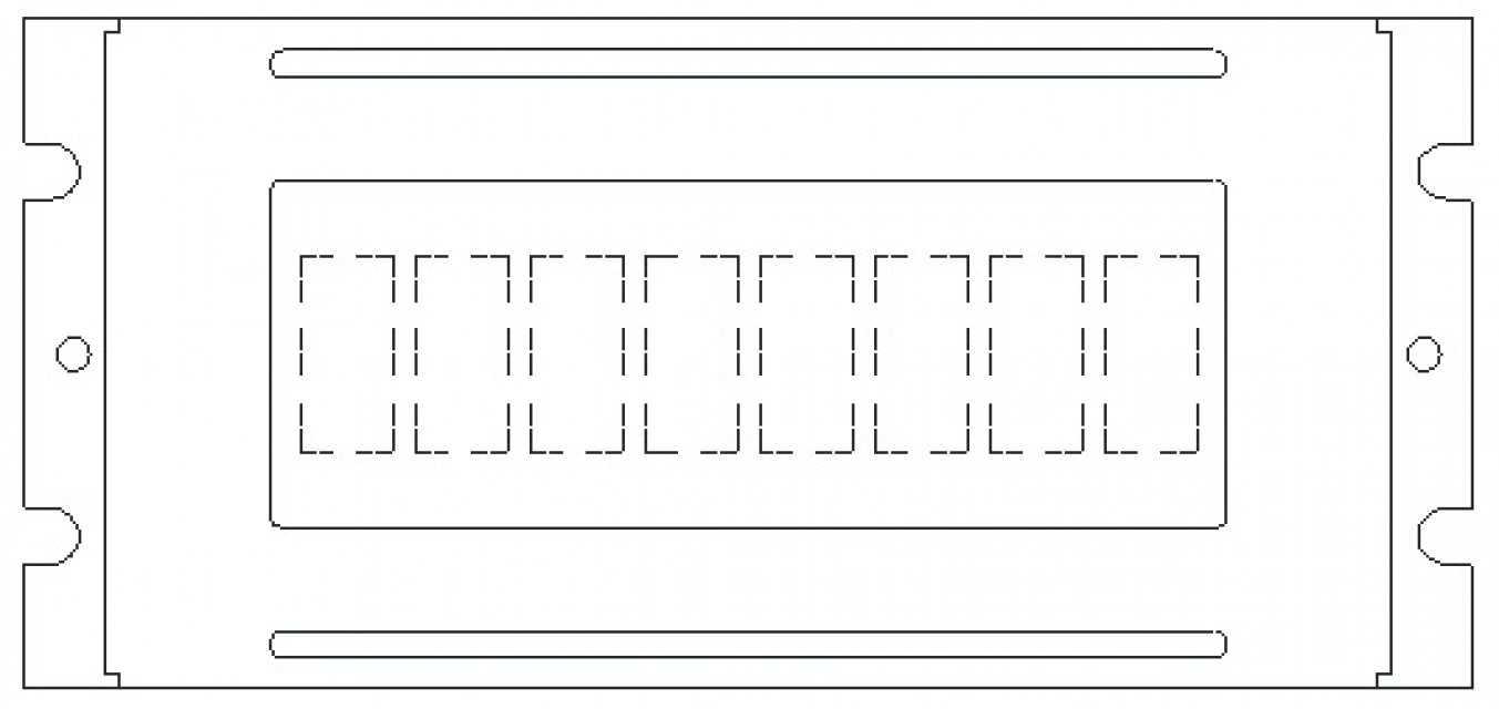 Monochrome LCM Character Type  PLC0801CW