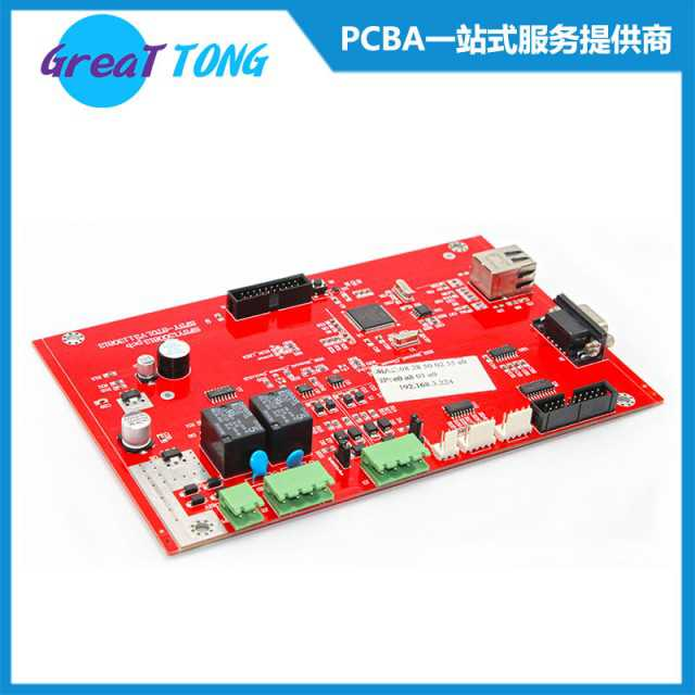 Testing Machine Equipment Multilayer PCB Prototype Assembly-Red Solder