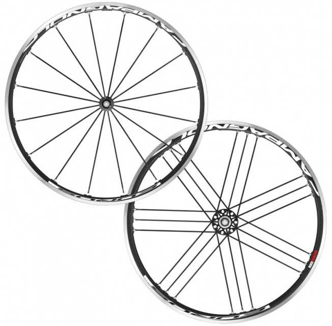 CAMPAGNOLO EURUS CLINCHER ROAD WHEELSET WITH CONTINENTAL GP4000 II TYR