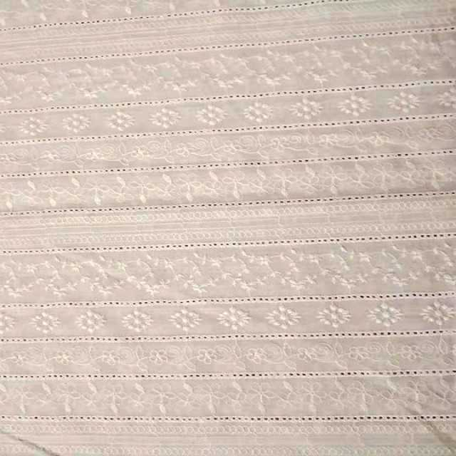 embroidered cotton fabrics lace voile fabric