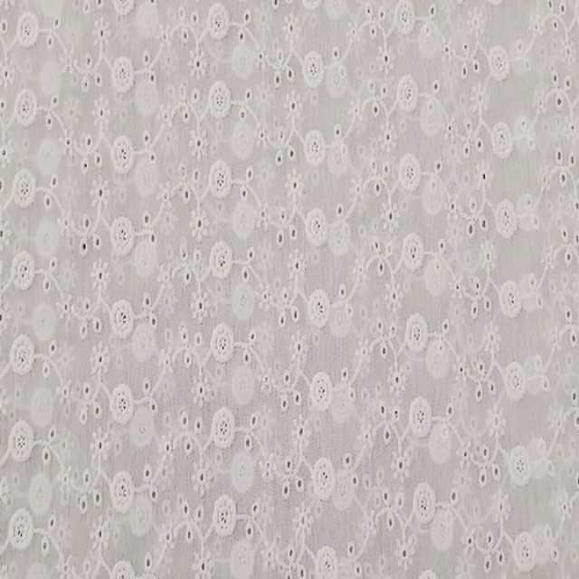 swiss voile 100% cotton dress fabric embroidered lace