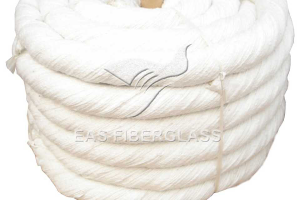 Ceramic Fiber Twisted Rope, High temperature and fire resistance