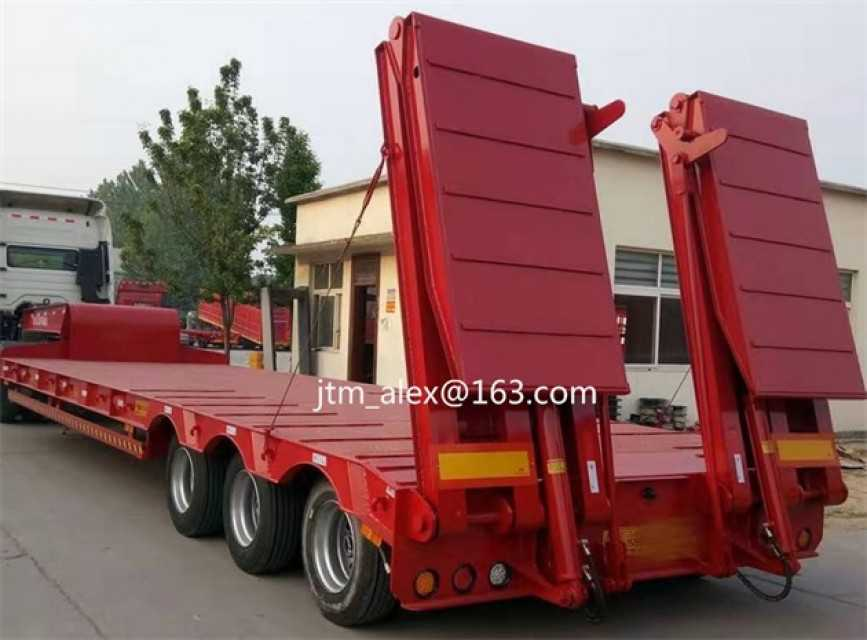 3 axles 4 axles 40T 60T 80T 100T 120T low boy low bed semitrailer