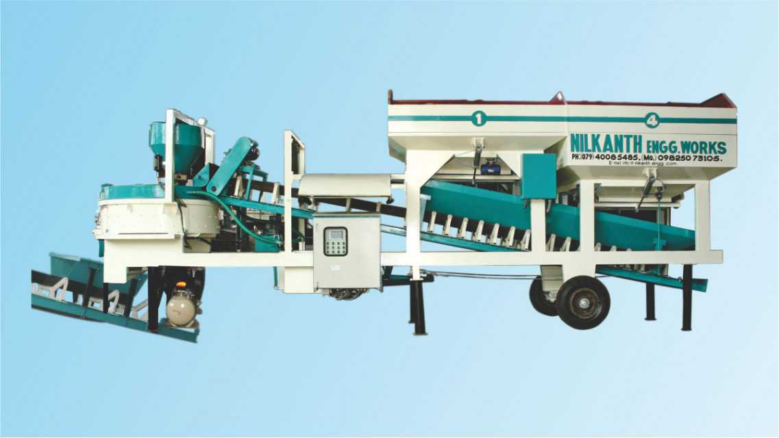 Mobile Concrete Batching Plant - Single Chassis Compact