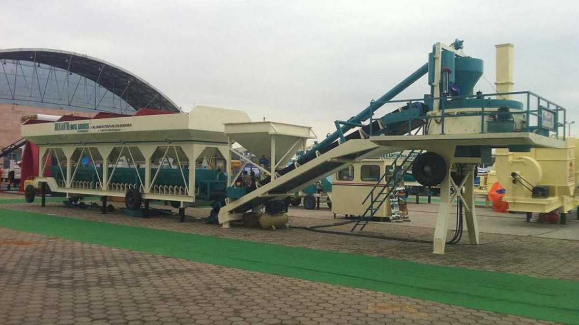 Mobile Concrete Batching Plant - Two Chassis Compact