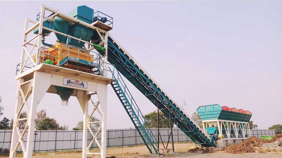 Stationary Concrete Batching Plant – Twin Shaft Mixer
