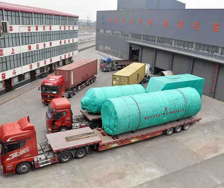 China ZJN rotary dryer kills 100+ tons of medicine residues per day