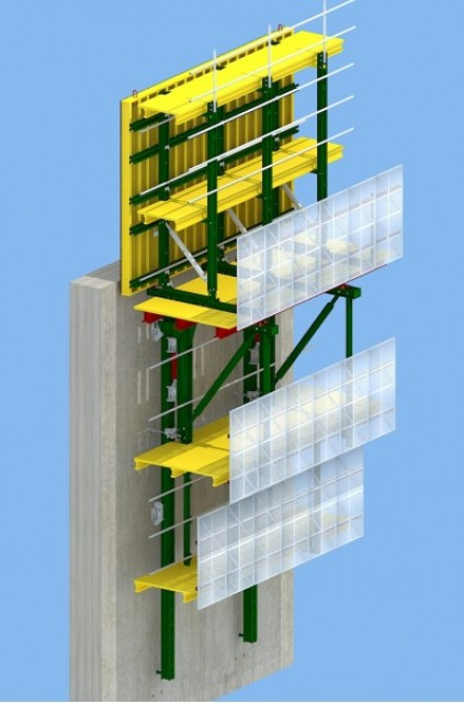 Hydraulic auto-climbing Formwork(Best choice to high buildings bridges