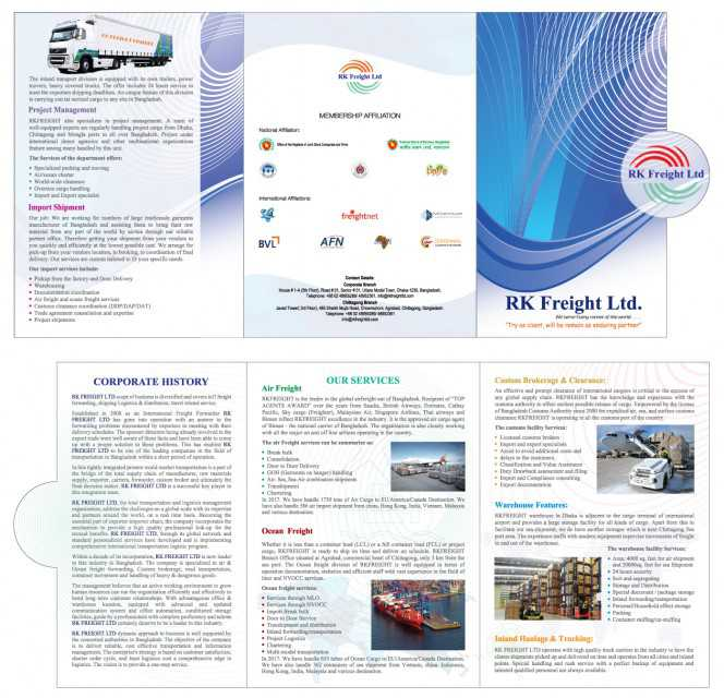 brochure rk freight ltd