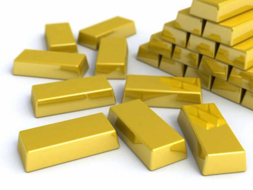 Gold Bars, gold Dust, Uncut Diamond