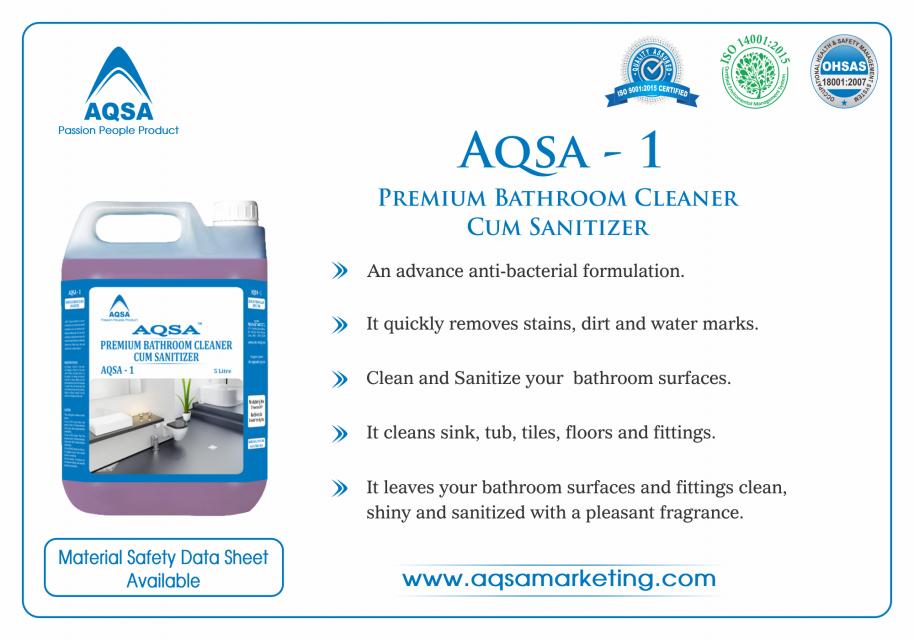 Premium Bathroom Cleaner Cum Sanitizer (AQSA - 1)