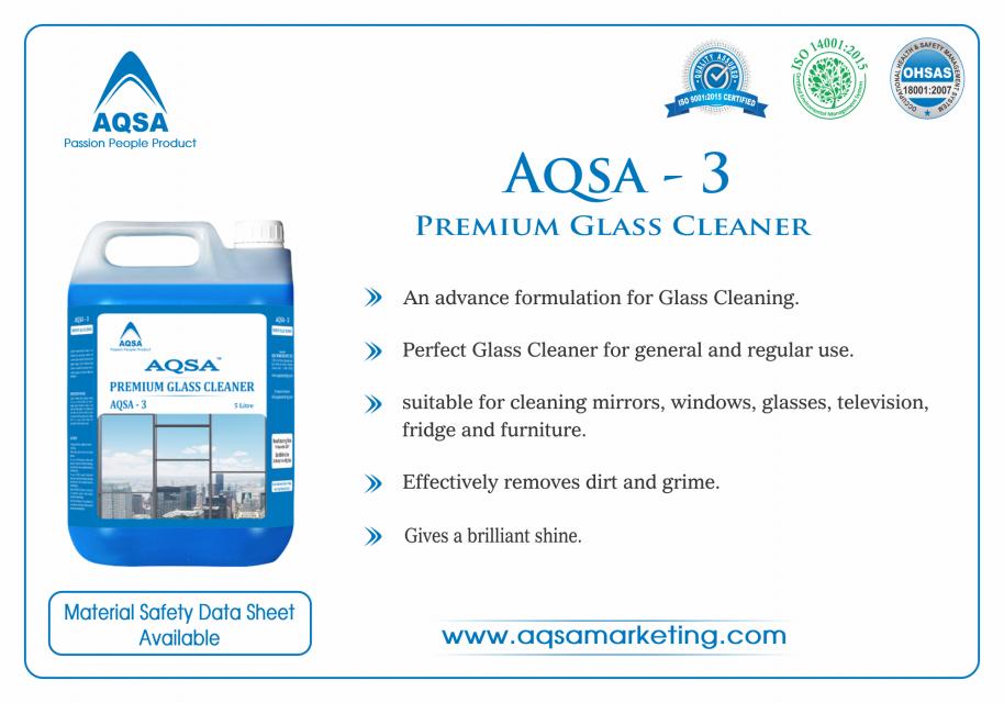 Premium Glass Cleaner (AQSA - 3)