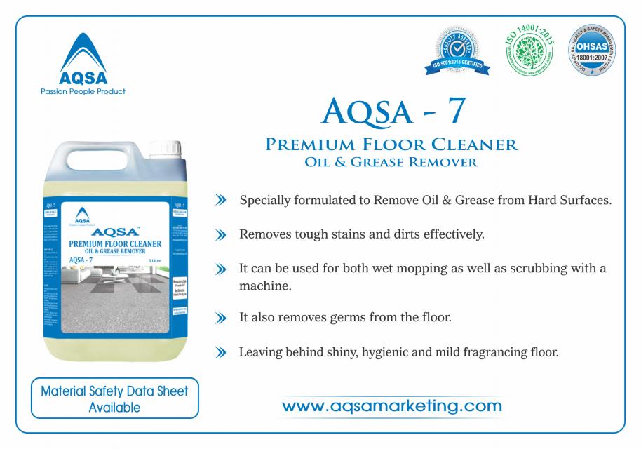 Premium Floor Cleaner Oil & Grease Remover (AQSA-7)