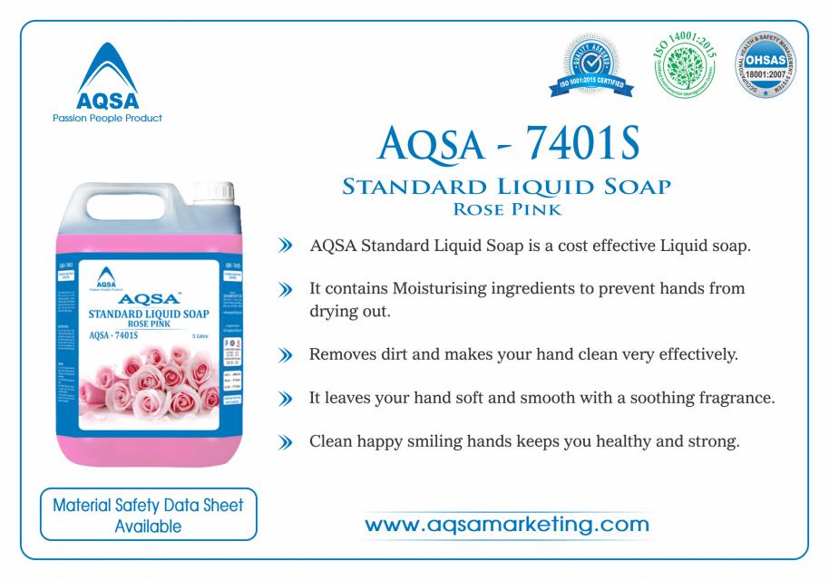 Standard Liquid Soap Rose Pink (AQSA – 7401S)