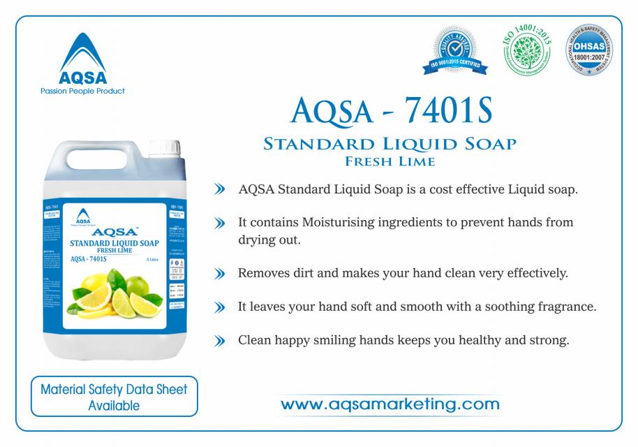 Standard Liquid Soap Fresh Lime (AQSA – 7401S)