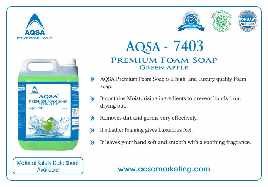 Premium Foam Soap Green Apple (AQSA – 7403)
