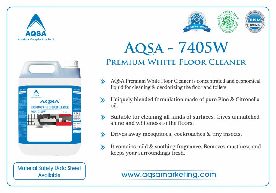 Premium White Floor Cleaner (AQSA – 7405W)