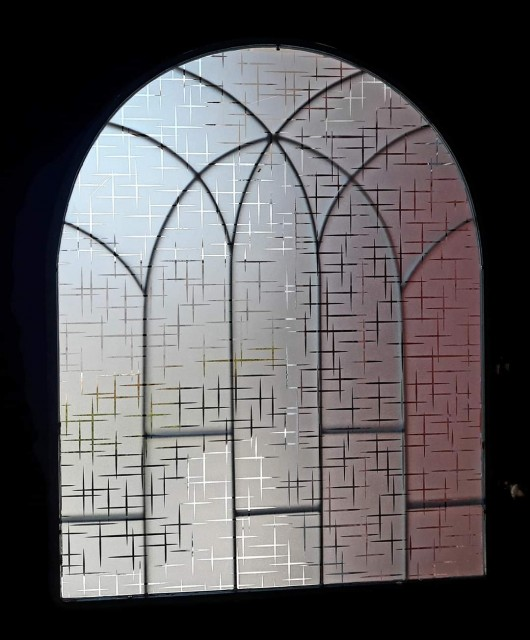 Glitter self adhesive window film/privacy glass film