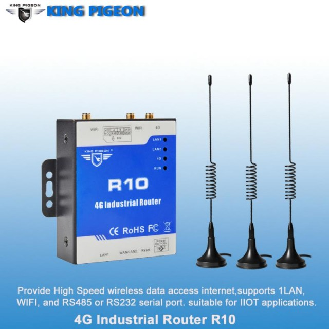 R10 Industrial 4G Router (2LAN 1WAN 1RS485)