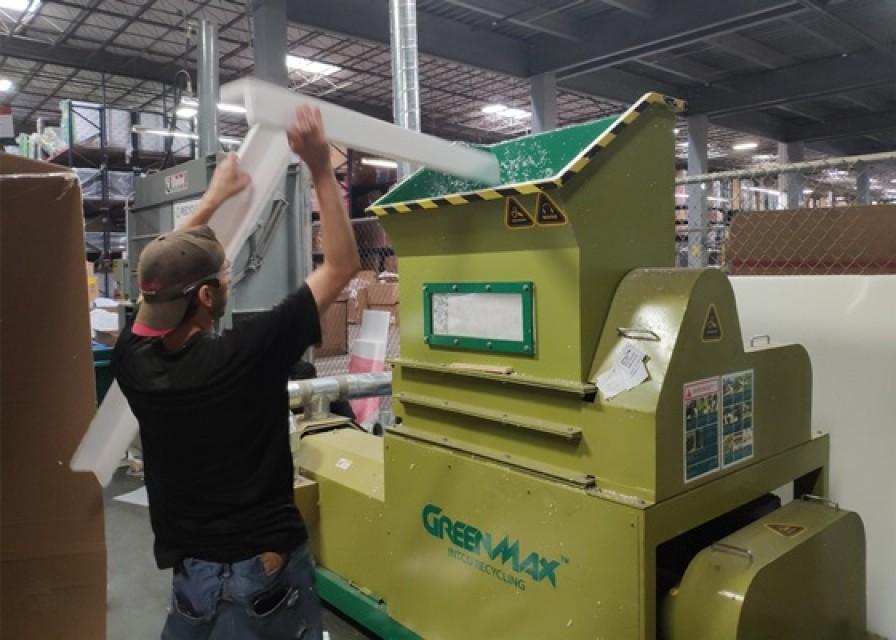 Efficient foam melting machine of GREENMAX M-C200 machine
