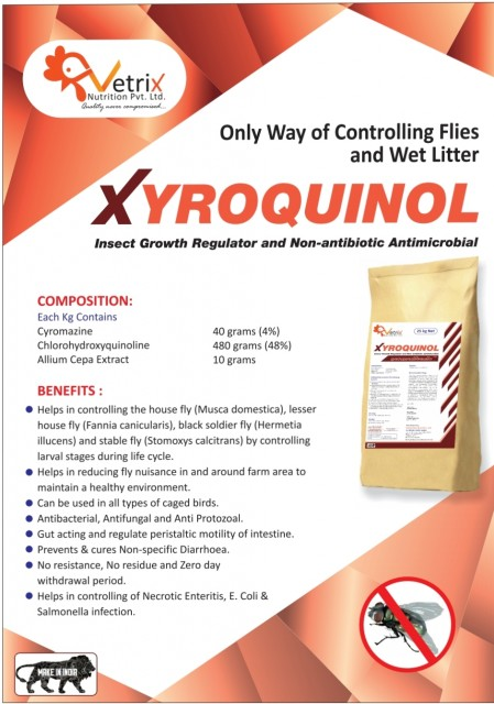 XYROQUINOL -INSECT GROWTH REGULATOR  AND NON ANTIBIOTIC ANTIMICROBIAL